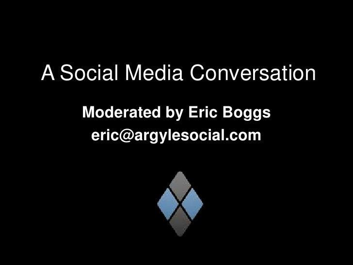 Social Media Talk - Argyle Social