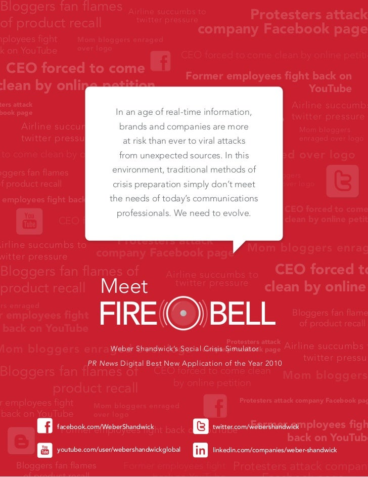 FireBell, social crisis simulator