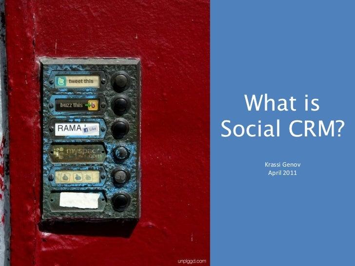 Social CRM - 2011