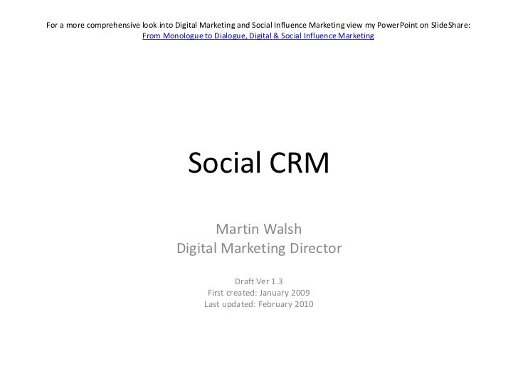 For a more comprehensive look into Digital Marketing and Social Influence Marketing view my PowerPoint on SlideShare:     ...