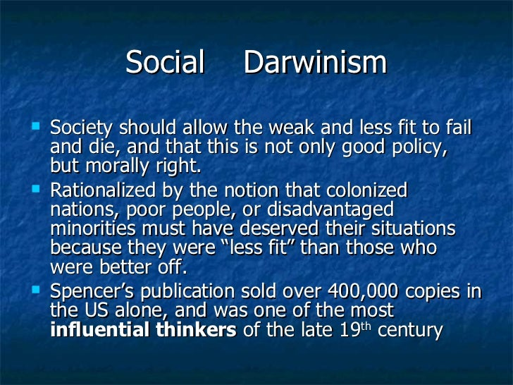write essay social darwinism Social darwinismsocial darwinism is a descriptive term given to a kind of social theory that draws an association between darwin's theory of evolution by.