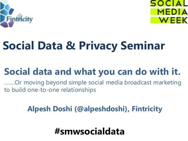 Social data & privacy seminar v1.0
