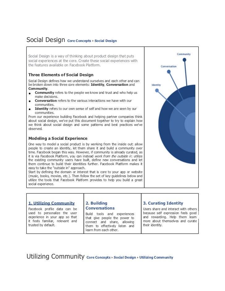 Social design facebook