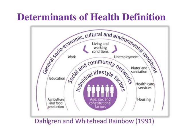 concepts and determinants of health The social determinants of health as a threshold concept allyson mutch, lisa  fitzgerald, charlotte young, kate van dooren school of public health.