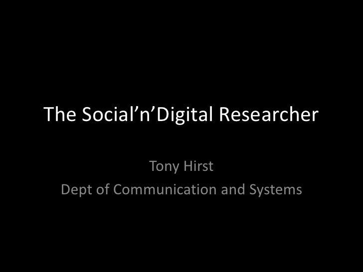 Social digitalresearcher