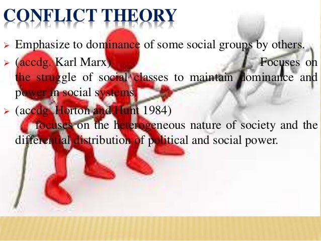 example of conflict theory A what is conflict theory farley (2000:73) contends that conflict theory arose primarily from the work of marx and was continued in the work of c wright mills and.