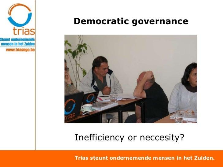 TRIAS: Social economy and governance