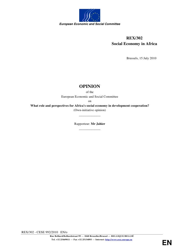 European Economic and Social Committee                                                                                 REX...