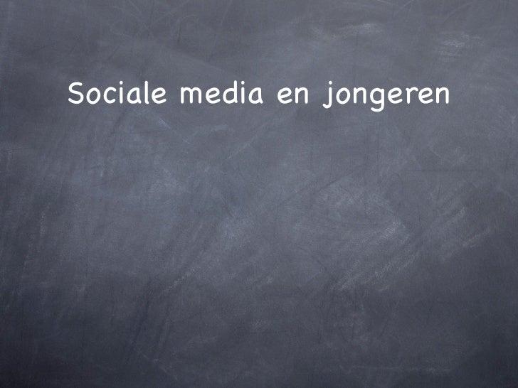Sociale media en jongeren