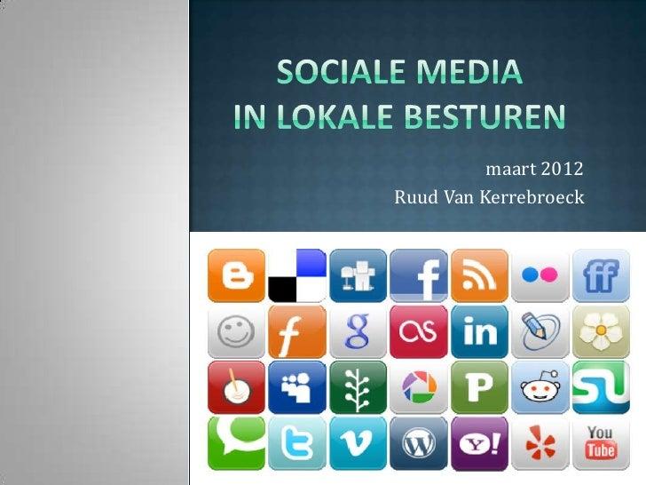 Sociale media in lokale besturen