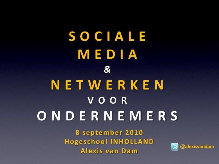 Sociale Media & Netwerken voor ondernemers