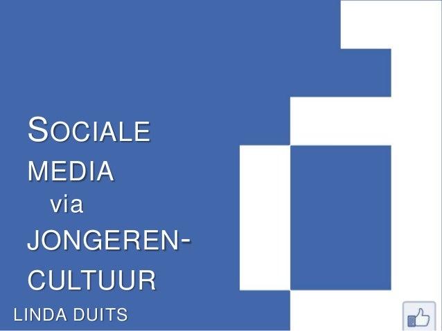 Sociale media via jongerencultuur