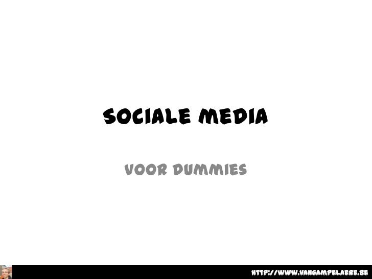 Sociale media voor dummies