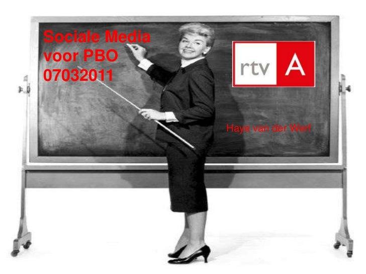 Sociale media voor RTV Alkmaar
