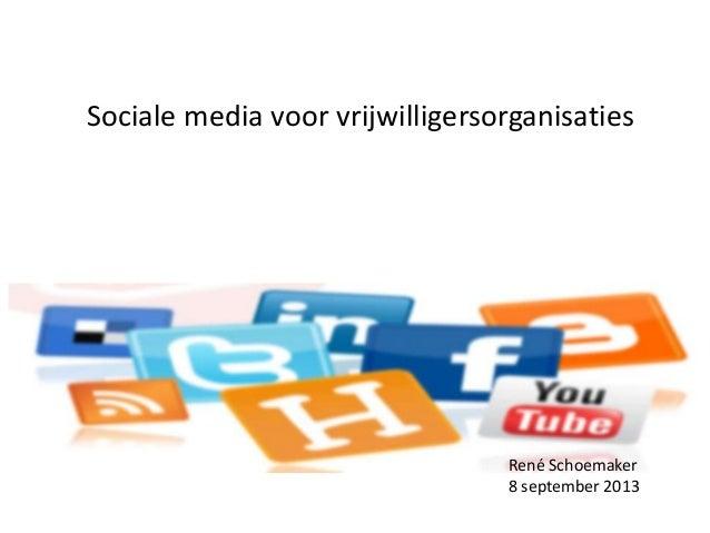 Presentatie sociale media voor vrijwilligersorganisaties