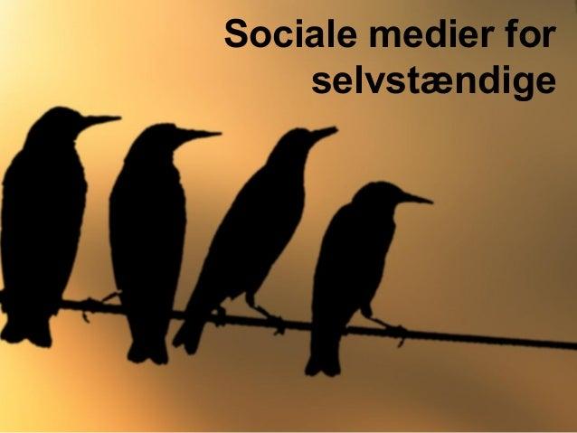 Sociale medier for selvstændige