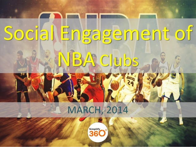 Social Engagement of NBA Clubs MARCH, 2014