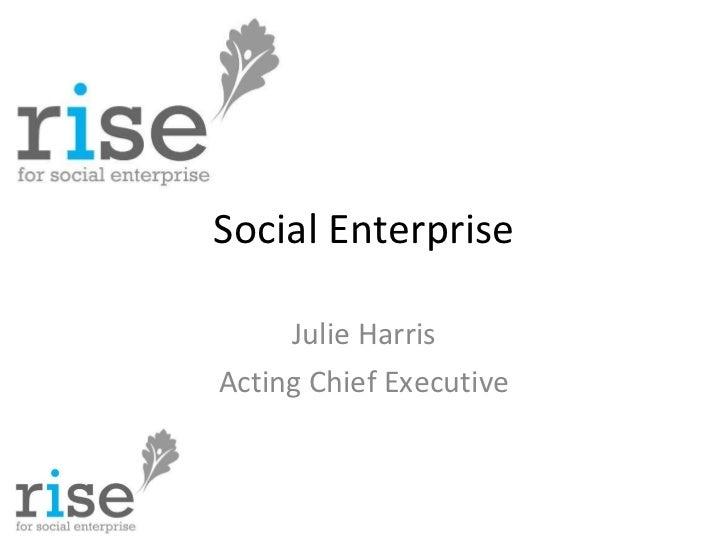 Social Enterprise and the Social Enterprise Mark - Big Society & Localism