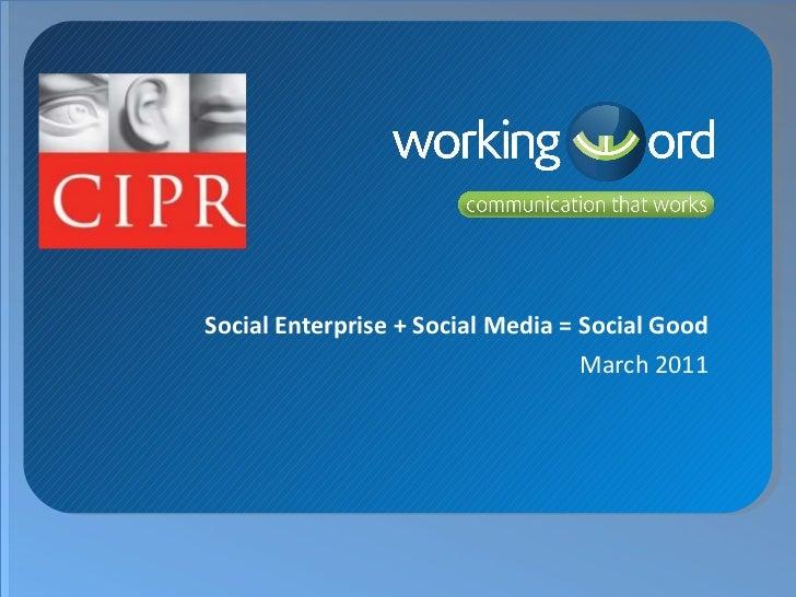 Daniel Tyte Social Enterprise + Social Media = Social Good