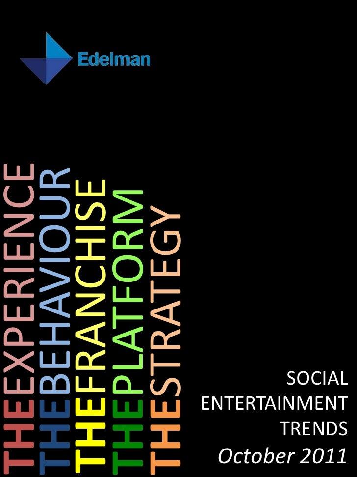 THEEXPERIENCETHEBEHAVIOURTHEFRANCHISETHEPLATFORMTHESTRATEGY                       TRENDS                        SOCIALOcto...
