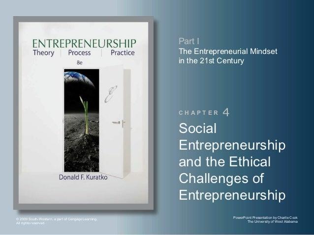 Social entrepreneurship and the ethical challenges of entrepreneurship