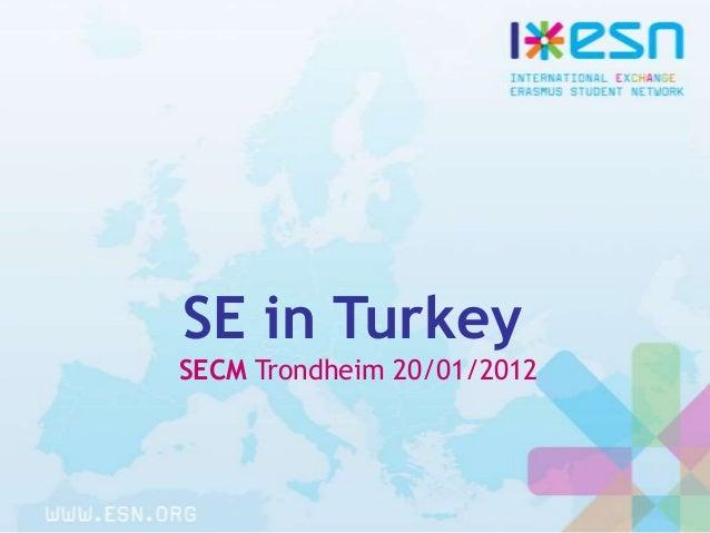 Social erasmus in turkey jan12 trondheim