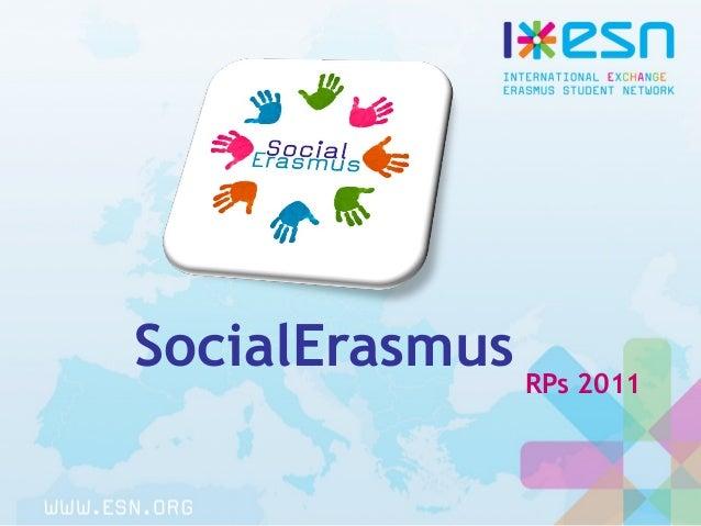 SocialErasmus RPs 2011