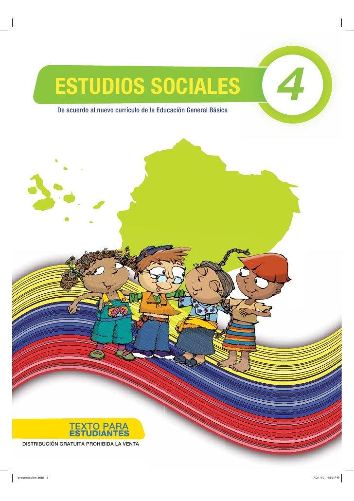 ESTUDIOS SOCIALES                      De acuerdo al nuevo currículo de la Educación General Básica                       ...