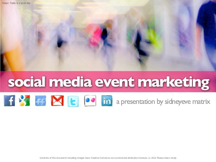 image: Today is a good day     social media event marketing                                                               ...