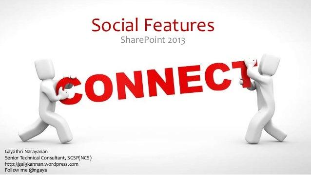 Social features sp2013