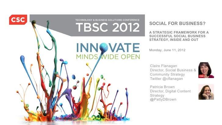 CSC Social Business: Framework for Success
