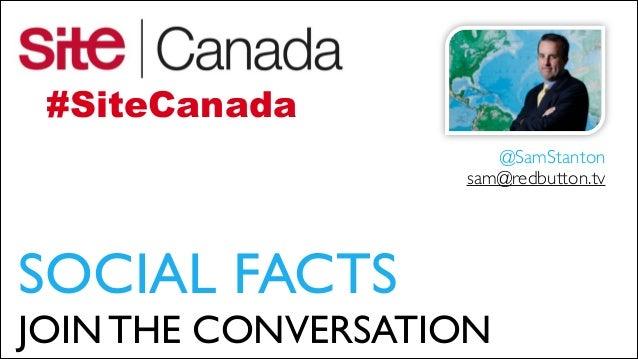 @SiteCanada - Social for Events @SamStanton - Toronto 11/13/13