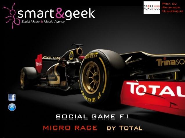 Prix du                        Sponsor                        Numerique  SOCIAL GAME F1MICRO RACE   by Total