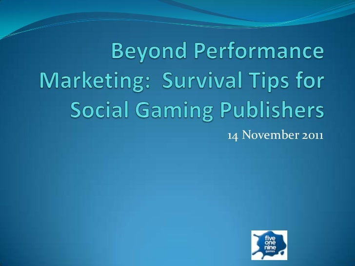 Marketing Opportunities for Social Games