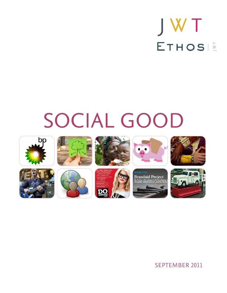SOCIAL GOOD        SEPTEMBER 2011