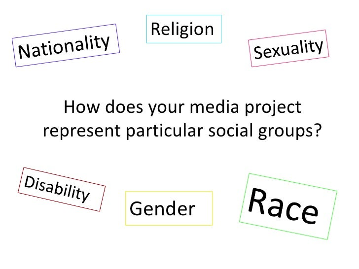 Religion<br />Nationality<br />Sexuality <br />How does your media project represent particular social groups?<br />Disabi...