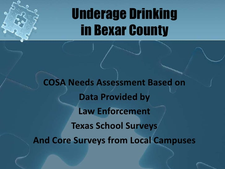 San Antonio Underage Drinking Data