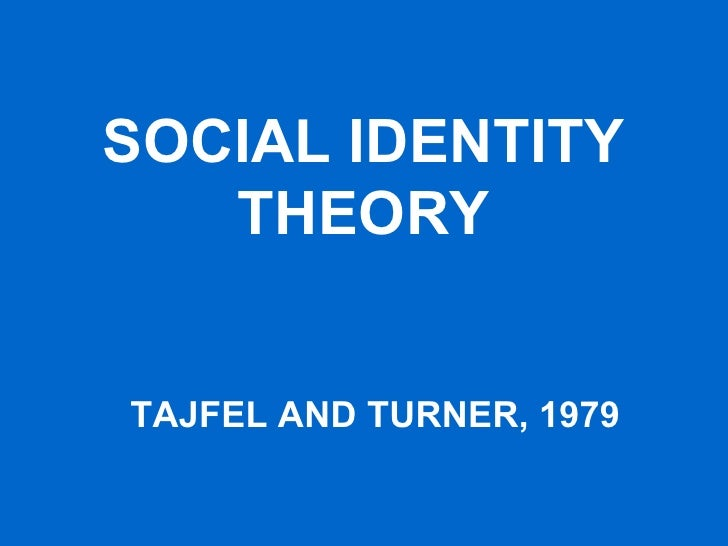 social identity theory Free social identity papers, essays, and research papers.