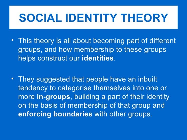 What is social identity?