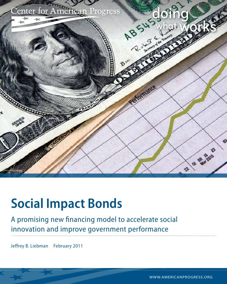 istockphoto/batman2000         Social Impact Bonds         A promising new financing model to accelerate social         in...