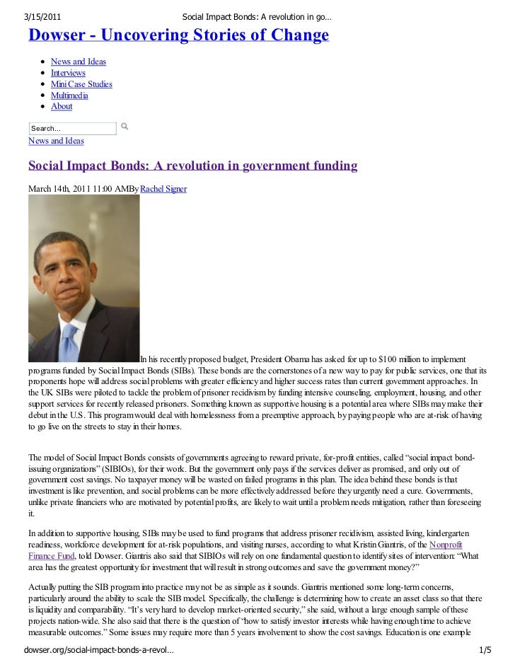3/15/2011                                       Social Impact Bonds: A revolution in go… Dowser - Uncovering Stories of Ch...