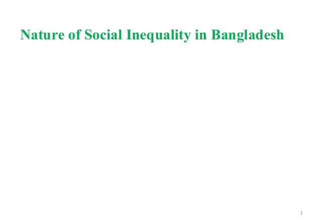 1 Nature of Social Inequality in Bangladesh