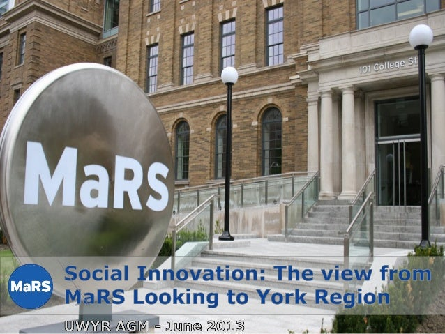 Social innovation trends the view from ma rs to york region june 2013
