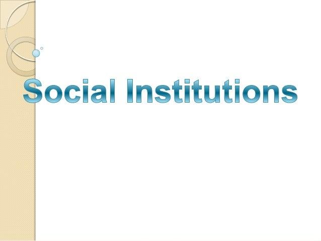 Social institution