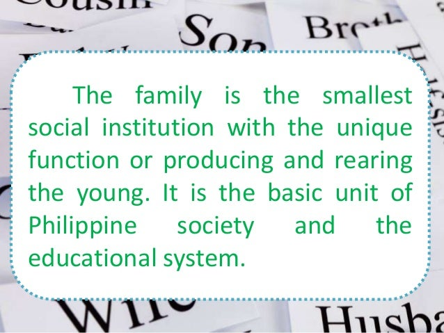 education as a social institution 2 essay The sociology of education is the study of how public institutions and individual experiences affect education and its outcomes education and social reproduction.