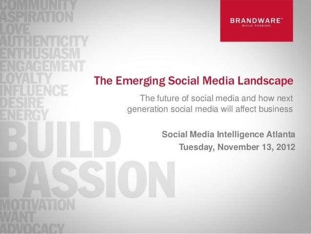 The Emerging Social Media Landscape