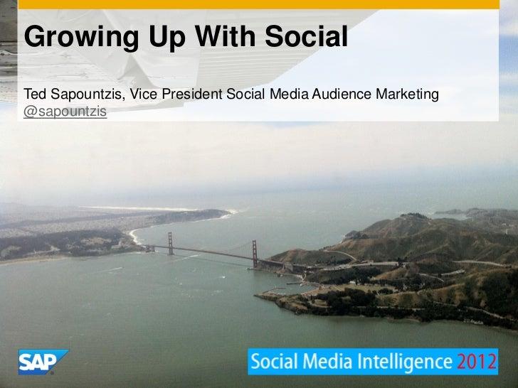 Growing Up With SocialTed Sapountzis, Vice President Social Media Audience Marketing@sapountzis