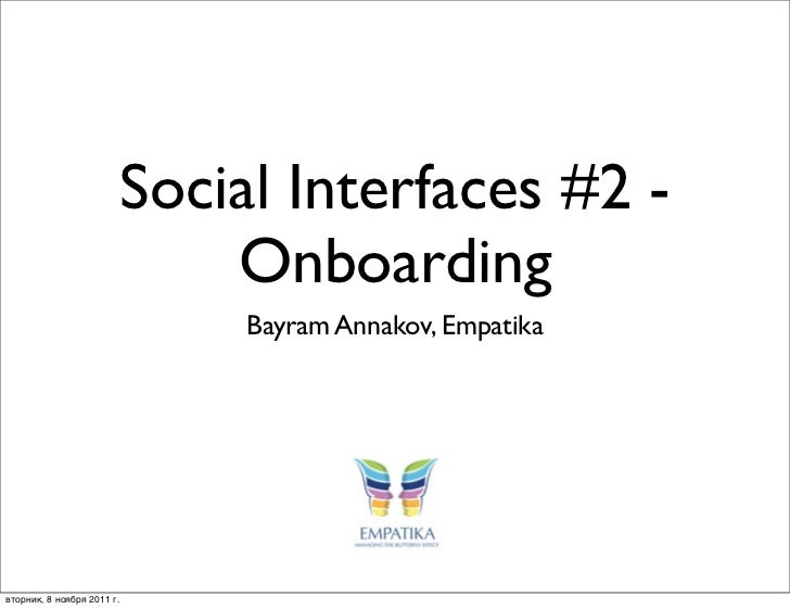 Social interfaces #2  - Onboarding