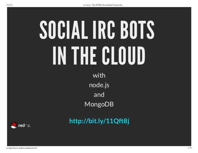 Building Social IDC Bots with Node.js and MongoDB