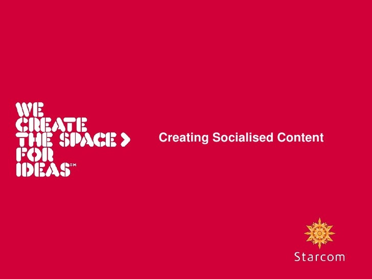Creating Socialised Content<br />